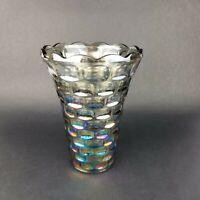 "Vintage Federal Glass Yorktown Sundown Pattern 8"" Tall Carnival Glass"