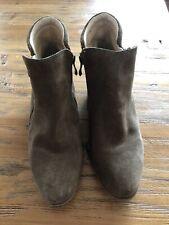 Apri Italian Brown Suede Booties Boot Ladies Womens GUC 8.5 M 8 1/2 Leather Shoe