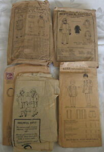 4 Antique Sewing Pattern Child's Dress Coat Butterick Mail Order Girls Lot