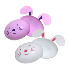 Pack of 6 Pink & White Fillable Bunny Rabbit Plastic Easter Eggs