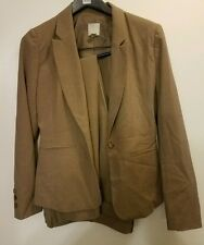 Halogen Women's 2 Piece Suit Brown Button Down sz 2 blazer sz 4 pants