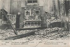 POSTCARD  MILITARY WWI  TERMONDE  Bomb Damage