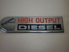 emblem stickon chrome red black Cummins High Output Diesel nameplate Dodge Ram