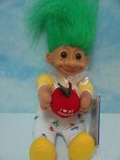 """I LOVE MY TEACHER w/HANG TAG - 7"""" Soft Russ Troll Doll - NEW w/ORIGINAL PLASTIC"""