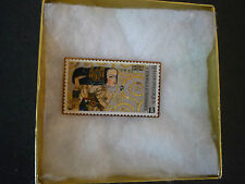 Belgie Belgique Europalia 87 Osterriech Stamp Replica Copper Pin Belgium stamp