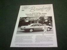 March 1988 Vauxhall AUTO CRIME Astra Carlton Senator Cavalier FOLDER BROCHURE