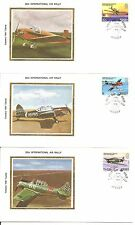 Jersey SC # 208-212 25th International Air Rally FDC.Colorano Silk Cachet