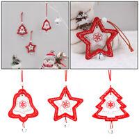 Estrella Madera Colgante Decoración de casa Lleva la campana Adornos de Navidad