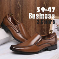 Men's Leather Dress Shoes Casual Slip on Oxfords Business Formal Work Shoes Soft