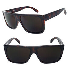 Classic Old School Eazy E Flat GANGSTER CHOLO Sunglasses Super Dark Brown