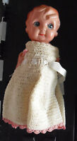 """Vintage 1940s Occupied Japan Celluloid Girl Character Doll 8 1/2"""" Tall"""