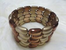 2 bronze/tone modern strectable bracelet for $15 **** limited offer