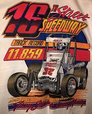 VTG 90s Tony Stewart Midget Racing Print T Shirt WHT XL
