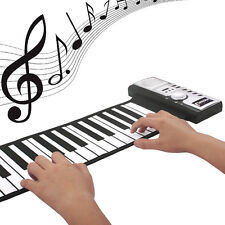 61 keys Electronic Keyboards Piano Digital Flexible Soft Roll up MIDI Keyboard