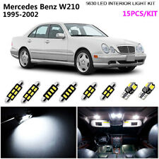 15Lamps Super Cool White 6000K Interior Dome Light Kit LED Fit Benz E-Class W210