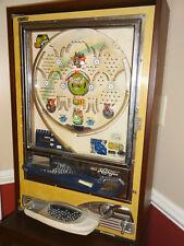 Vintage 70's NISHIJIN PACHINKO Pinball Machine in custom wood cabinet stand