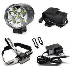 7000 Lumen CREE XM-L 5x T6 LED Bike Light Lamp Headlamp+ Battery Pack
