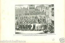 Spain Espana Procession Auto-da-fé / Philippe de Limborch GRAVURE OLD PRINT 1873