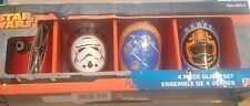 Star Wars 4 Piece Glass Set Rebel Galactic Boxed Disney 10 Oz 295 Ml