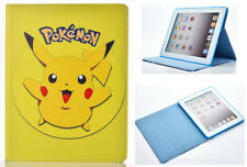 For Apple iPad 2 3 4 Great Pokemon GO Pikachu Fun Kids Cartoon Stand Case Cover