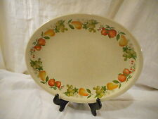 Vintage Oval Serving Platter, Wedgwood China, Quince Pattern, England Pears