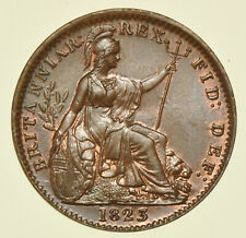 More details for 1823 george iv farthing, british coin choice bu