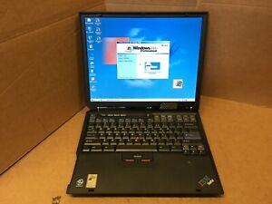 IBM Thinkpad R31 LAPTOP Pentium 3 Windows 2000 Retro Gaming  256MB 20GB HDD