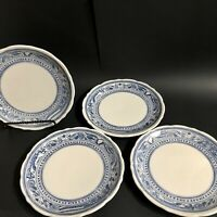 "Vintage Syracuse Plates 4 Bald Eagle Restaurant Ware American Legion China 9"""