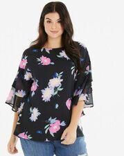 Womens Sheer Frill Kaftan Sleeve Blouse - Simply Be