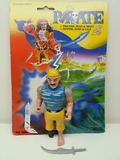Pirate Action figure by Kids Goods DECKHAND with Pegleg Complete cardback 1986