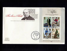 1980 Britain Edinburgh Penny Postage Souvenir Sheet Fdc 21207