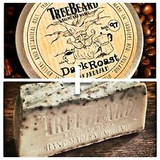 DARK Roast Caffè Barba Balsamo e barba sapone Combo, Barbalbero, naturale, HAND MADE