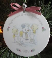 Precious Moments 1989 May You Have A Heavenly Christmas Ornament Vintage