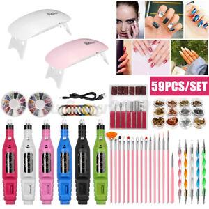 Electric Nail File Art Drill Manicure Pedicure Acrylic Portable Machine Kit Tool