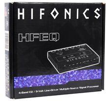 Hifonics HFEQ 4-Band Equalizer w/ 9-Volt Line-Driver Multiple-Source Processor