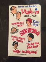 VTG LAUGH - IN LEGAL PAD 1968 Tv Show RARE
