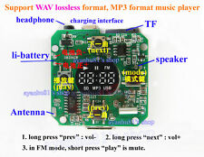 3.7V-5V SD/TF Card U-disk WAV MP3 Decoder Board FM Radio 5W Amplifier Headphone