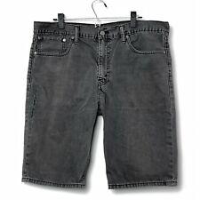 Levi's 508 Mens Distressed Black Jean Shorts 5 Pkt Black Badge Meas as Sz 38