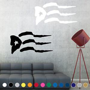 Puerto Rico Rican Flag Decal Sticker Wall Art Living Room House Decor Window V2