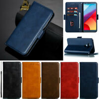 Luxury Wallet Leather Flip Case Cover For LG G6 G7 ThinQ V30 Q6 K8 2018 K10 2018