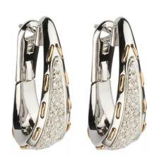 orecchini DAMIANI in oro bianco e rosa 18 kt con diamanti ct 0,92 altezza cm3,25