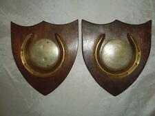 MOUNTED ROSETTE CENTERS 1874 ABERYSTWITH- HORSE SHOES & SHIELDS- DISPLAY PIECES