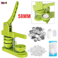 More details for 58mm button badge maker diy pin badge making punch press machine 100 button part