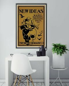 1902 New Ideas in Magic, Illusions, & Spiritualism Book POSTER! (up to 24 x 36)