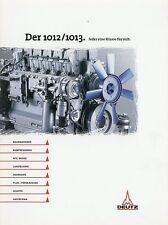 Deutz Motor 1012 1013 Prospekt Nutzfahrzeuge 3/98 1998 brochure truck engine LKW