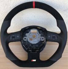 Ricambio Messa Punto S-LINE Piatto Volante Multif. in pelle Nero Audi A4 Rosso