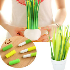 12pcs Funny Grass Leaf Grass-Blade Pen Stationery Sign Pen Decoration Office cdc