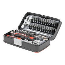 STIER Steckschlüssel und Bit Satz 38 teilig Bit Set mit Umschaltknarre in Box