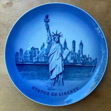 Vintage Royal Copenhagen Commemorative Porcelain Plate 1970 Statue of Liberty,Ny