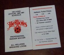 Hartford Hellions  Schedule indoor Soccer  league 1980- 81